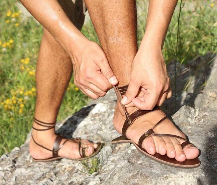 Flexible soles pocket men sandals/ running trekking sandals/ | Etsy in 2021  | Mens sandals, Trekking sandals, Leather barefoot sandals