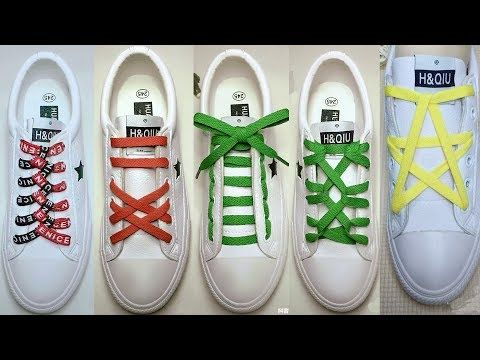 LACE SHOES TUTORIAL 32 CREATIVE WAYS TO TIE YOUR SHOES LIFE HACK DIY How To Tie  Shoe Lacing #LifeHacks #…   Shoe lace patterns, Ways to lace shoes, How to tie  shoes