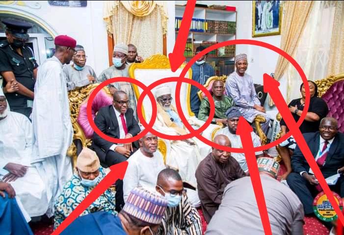 Photos of Alban Bagbin, Chief Imam, Haruna Iddrisu and Muntaka defying covid-19 protocol. 54