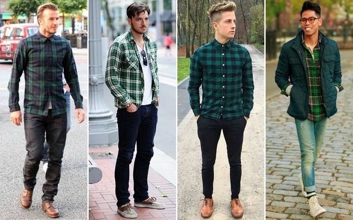 flannel over hoodie guy cheap online