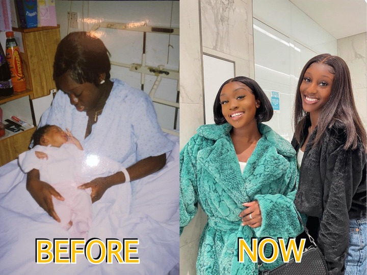 Meet Amina, She Got Pregnant At The Age Of 17, You Cannot Distinguish Between Her And Her Daughter Now