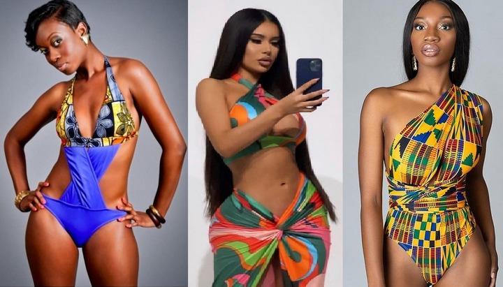 50 Latest Ladies Ankara Bikinis, Swim Wears & Beach Dress Styles