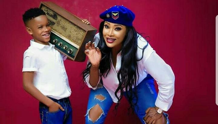 Image result for Angela Okorie and her son