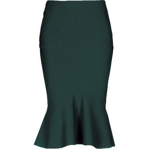 Greta Constantine Kace Teal Green Flounce Hem Midi Skirt - Meghan Markle's  Skirts - Meghan's Fashion