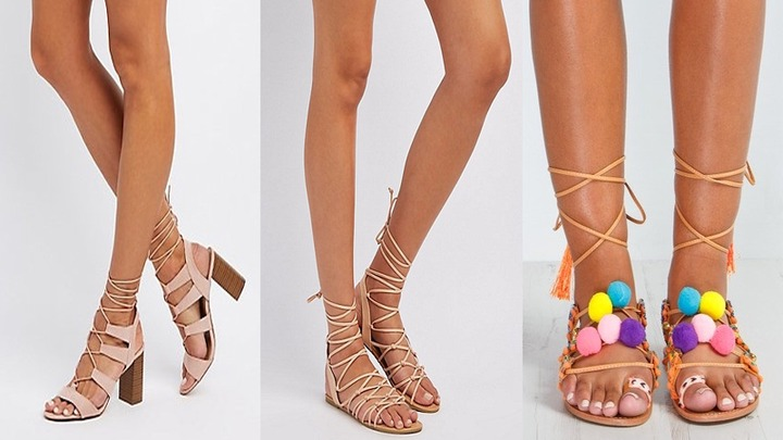 9 Latest Women's Lace Up-Sandals That Will Match Any Outfit