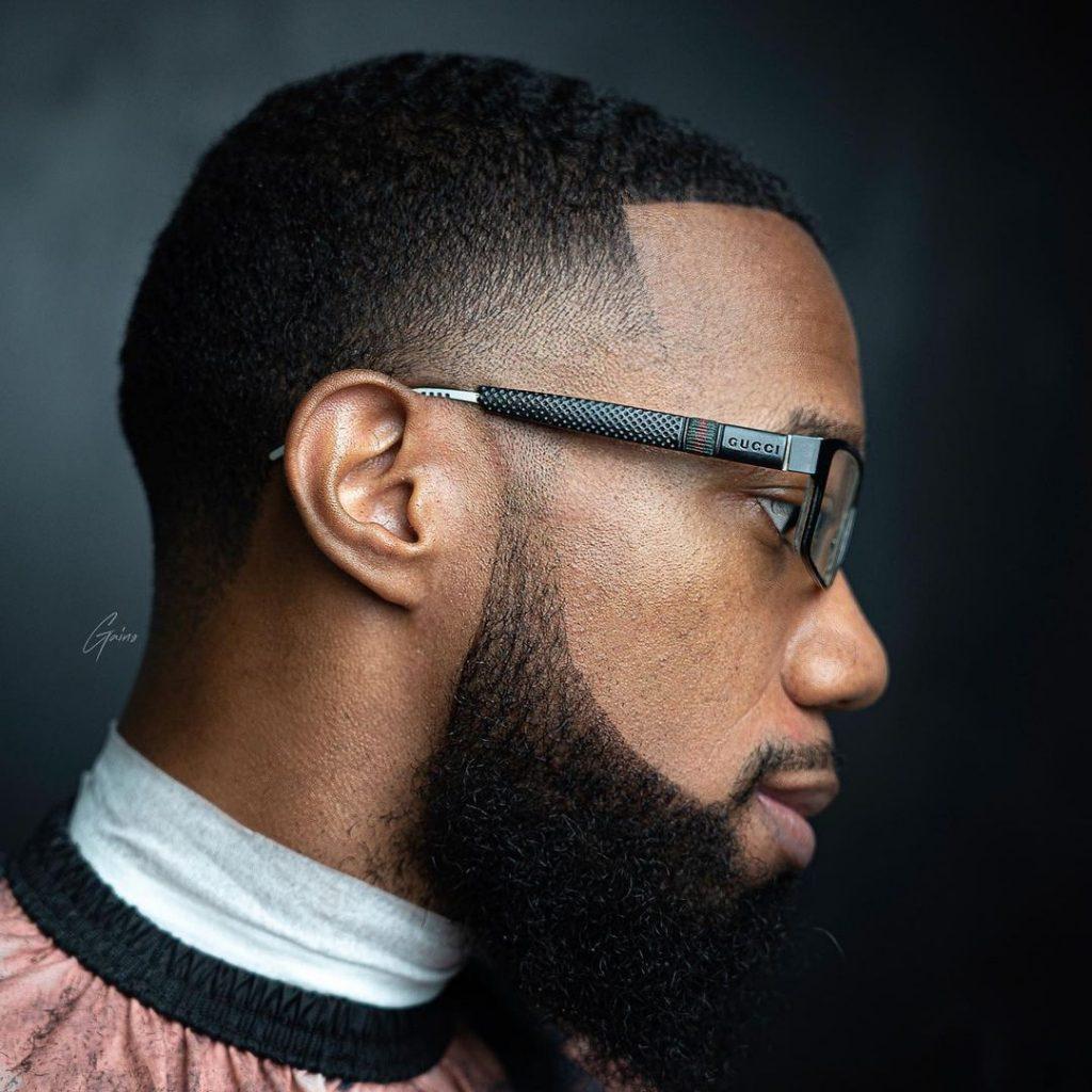 Taper fade haircut the beard