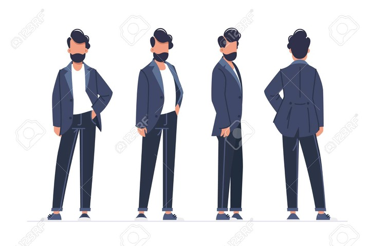 Collection Of Turning Various Male Poses. Concept Set Young Man Model Walks  Down The Runway. Vector Illustration. Royalty Free Cliparts, Vectors, And  Stock Illustration. Image 126510619.