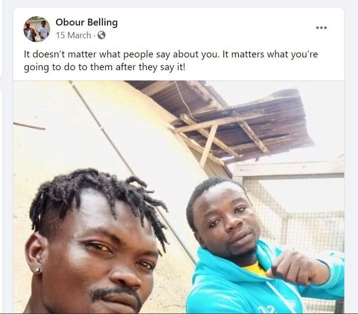 Meet Obour Belling, leader of the gang brandishing guns after the bullion van robbery. 51