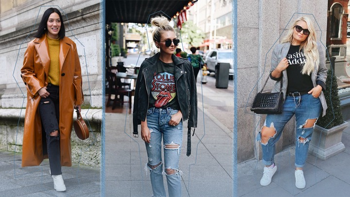 Ripped Jeans Outfit Ideas: 29 Street Style Looks | StyleCaster