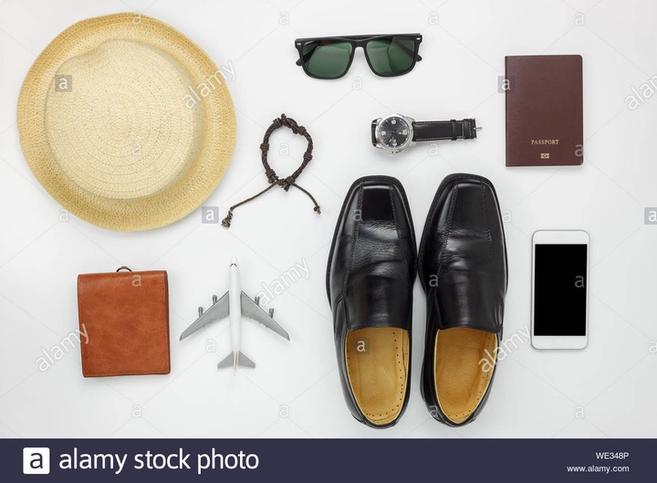 Personal Accessories Over White Background Stock Photo - Alamy