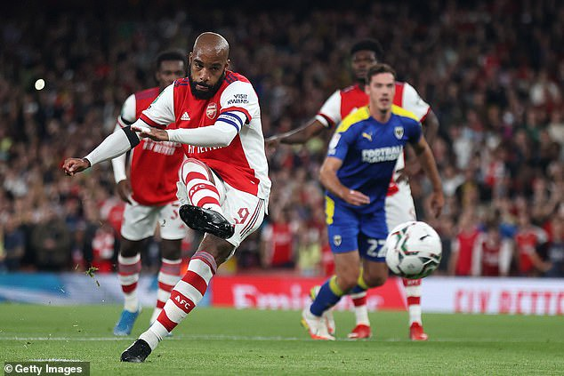 Alex Lacazette scored for Arsenal to raise the pressure on Pierre-Emerick Aubameyang