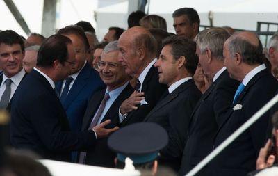 Valéry Giscard d'Estaing, François Hollande et Nicolas Sarkozy