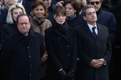 François Hollande, Carla Bruni Sarkozy et son mari Nicolas Sarkozy