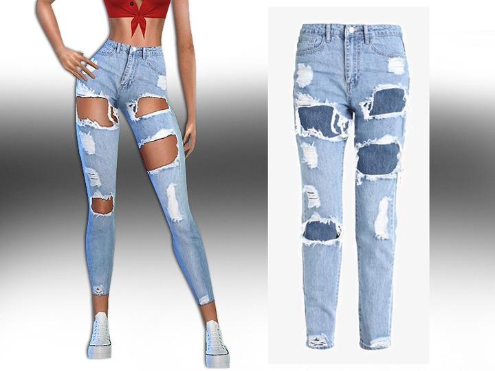 Saliwa's High Rise Ultra Ripped Jeans