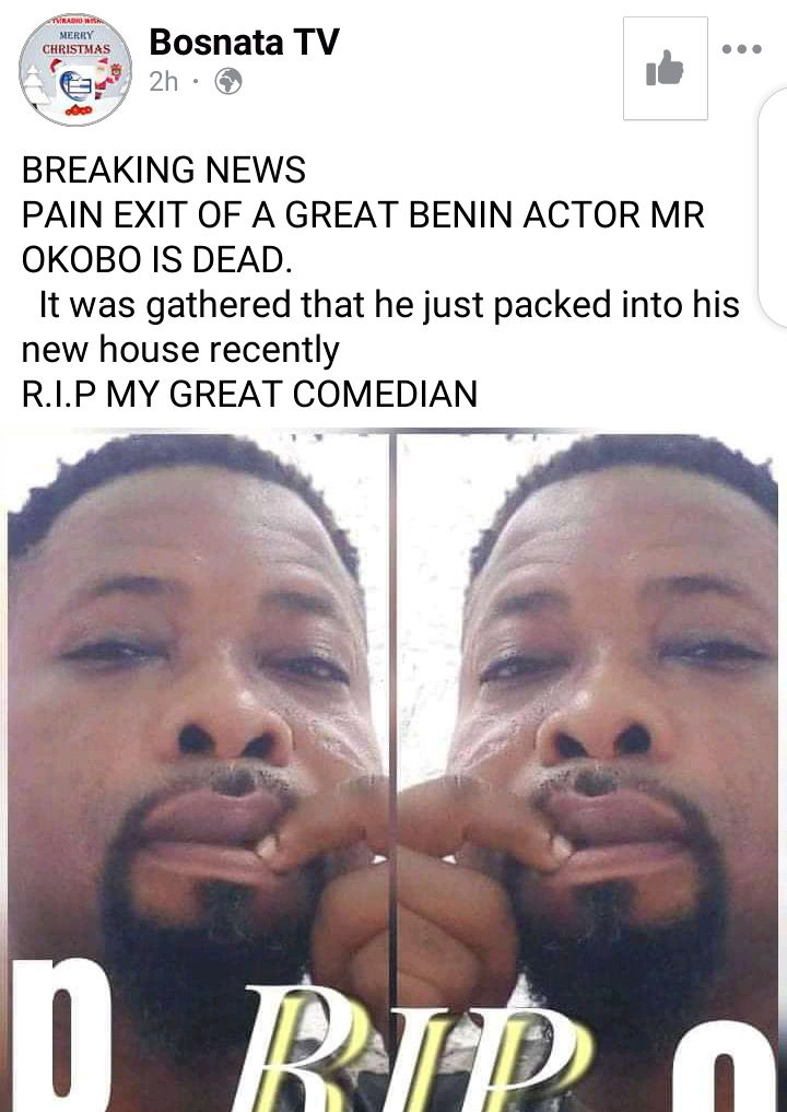 See The Benin Comedian, MC Okoko Who Died While Performing On Stage