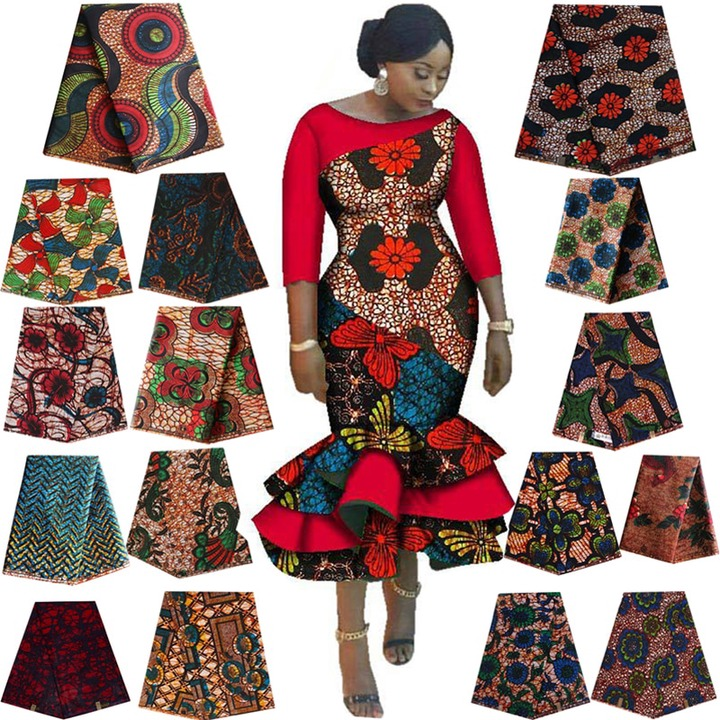 Real Wax Ankara African Batik Double Prints Fabric Africa Tissu Top Quality  Cotton Sewing Material For Dress Making Craft DIY Fabric  - AliExpress