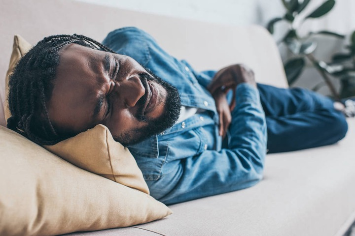 Selective Focus Of Exhausted African American Man Free Stock Photo and Image