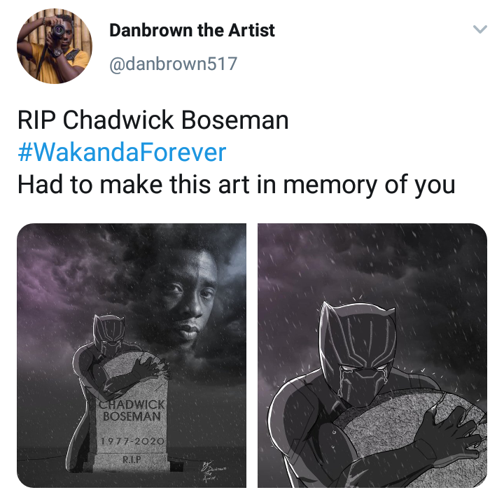 Check Out This Lovely And Emotional Art A Fan Made In Honour Of Late Wakanda Actor Chadwick Opera News