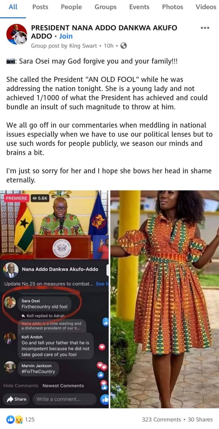Ending politics of insult: More troubles for Sara Osei, the lady who insulted Akufo Addo. 54