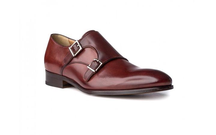 Monkstrap Shoes in Brandy Antique Italian Leather