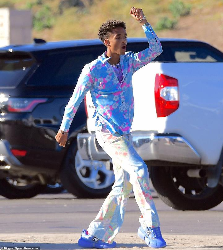 Back to work!Jaden Smith was seen filming his latest music video in Pacific Palisades on Friday