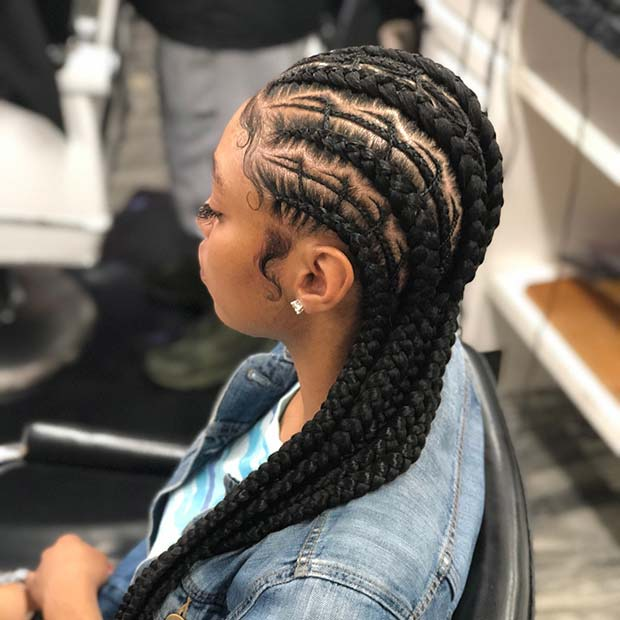 feed in braids hairstyles feed in braid hairstyles. - 434 feed in braids - Ladies: Choose From These Gorgeous Feed in Braid Hairstyles for your New Look