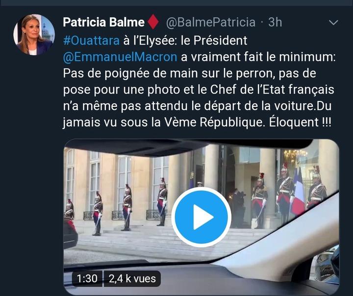 """""""Macron a fait le minimum (...) Du jamais vu..."""" une journaliste française allume Ouattara"""