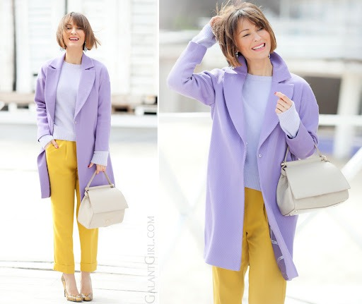 Spring outfit in lilac and mustard. - Galant Girl – Блог о стиле и моде