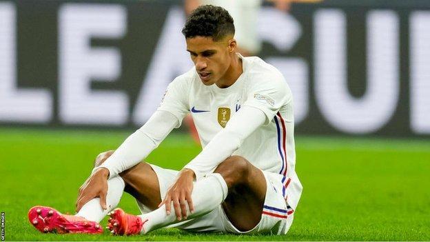 Raphael Varane: Man Utd defender injured for France in Nations League final  - BBC Sport