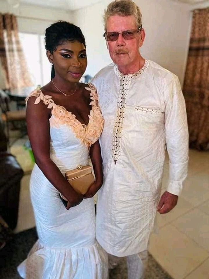 70-Year-Old White Man And His 22-Year-Old Wife Celebrate 2 Years Of Marriage - Photos