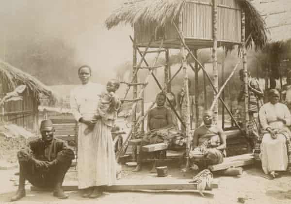The 1897 human zoo in Belgium.