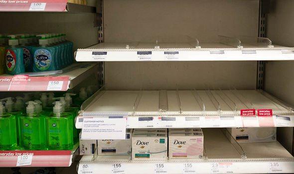 Hand sanitiser: Empty shelves at Boots