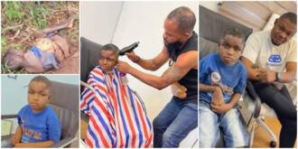 Reactions as Nigerian man rescues boy thrown into forest, shares photos of his new look