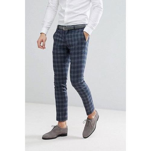Formal Wear Mens Check Cotton Trousers, Sanjeev Knit Wears   ID: 20439485048