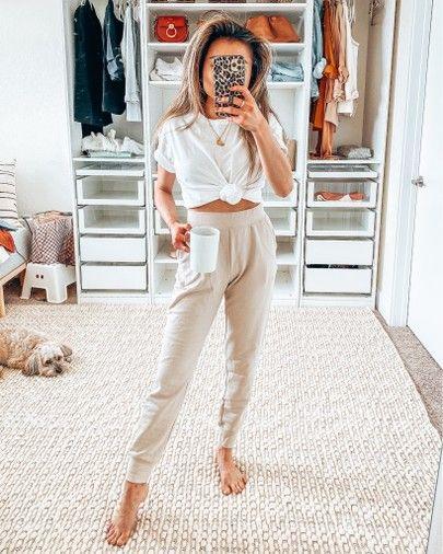Work from home outfit Uniqlo sweats (XS) boyfriend tee (XXS)  https://liketk.it/2LRVS #liketkit @liketoknow.it #LTKund… | Wfh outfits,  Work wear outfits, Home outfits