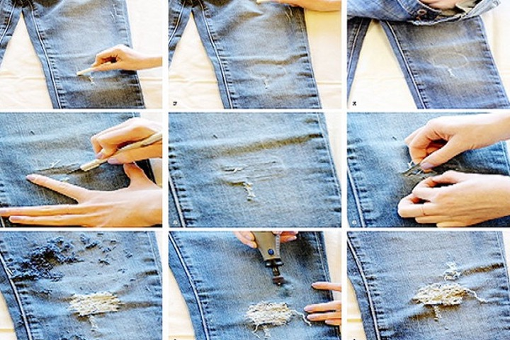 How to make ripped jeans at home easily