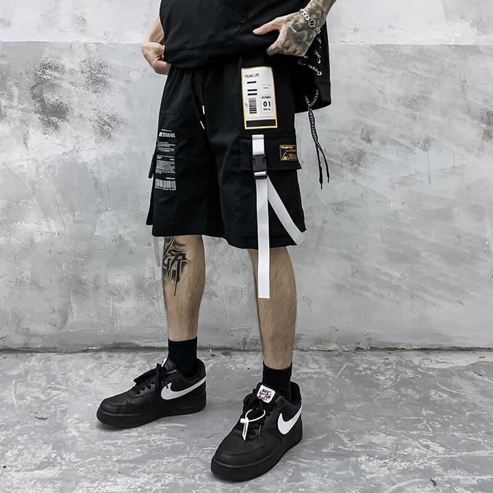 Men's Fashion Cargo Shorts New Male High Quality Multi Pocket Hip Hop Short  Men Comfortable Streetwear 2021 Elastic Men Shorts|Casual Shorts| -  AliExpress