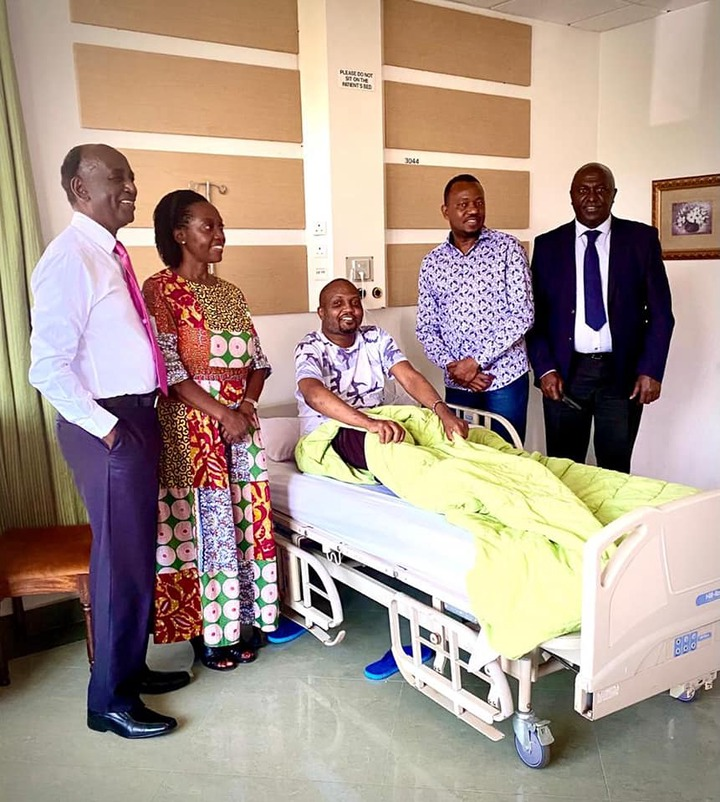 May be an image of 5 people, people standing, hospital and indoor