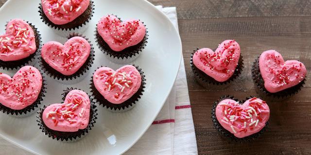 Hear shaped cupcakes