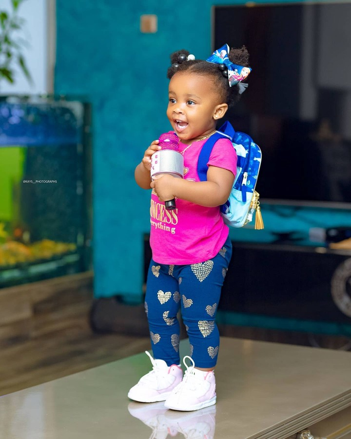 Baby maxin shares adorable moments with her father in new photos. 6