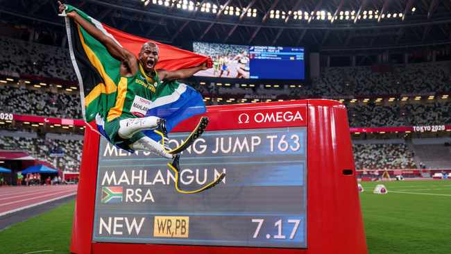 Ntando Mahlangu's best was good enough to earn Paralympic gold