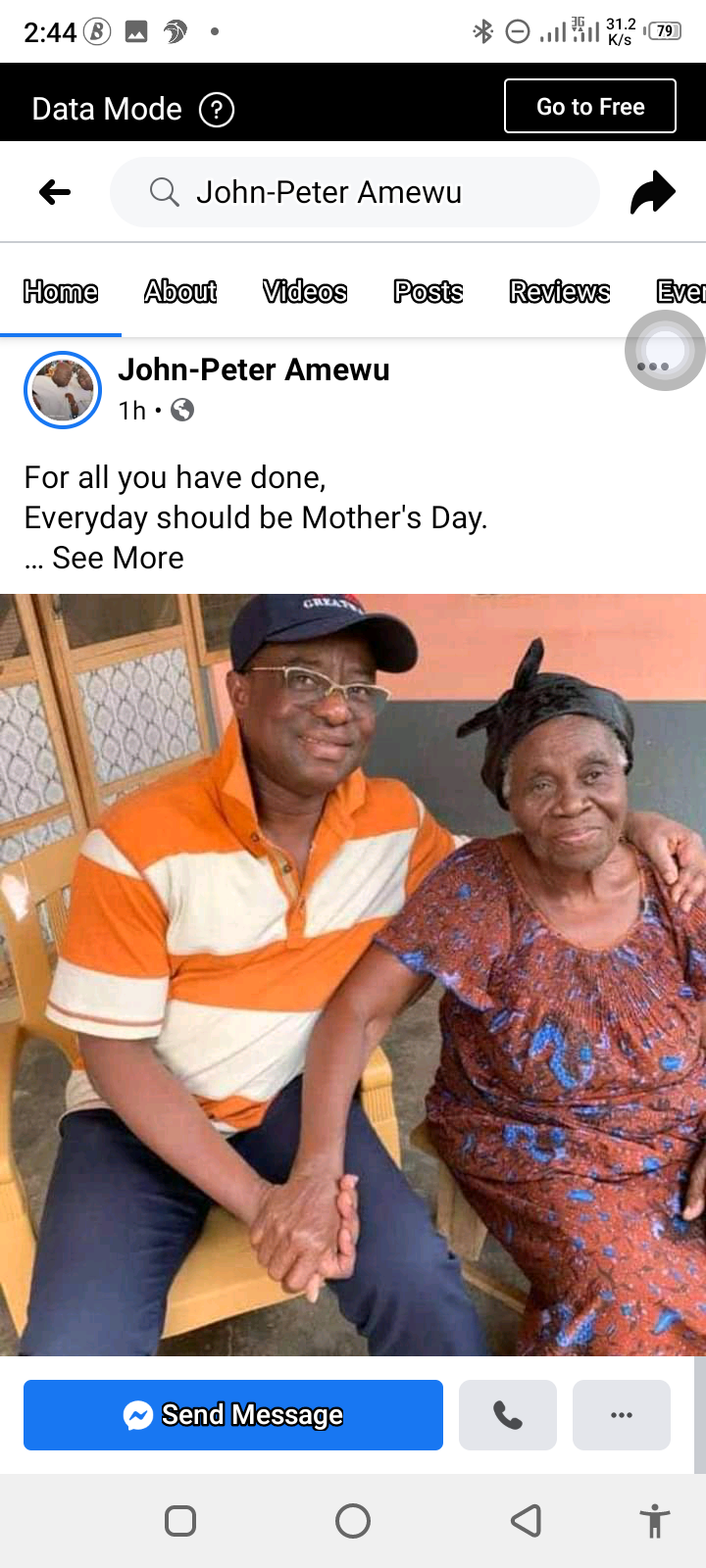 Massive reaction after Hon. Peter Amewu show off his mother. 10