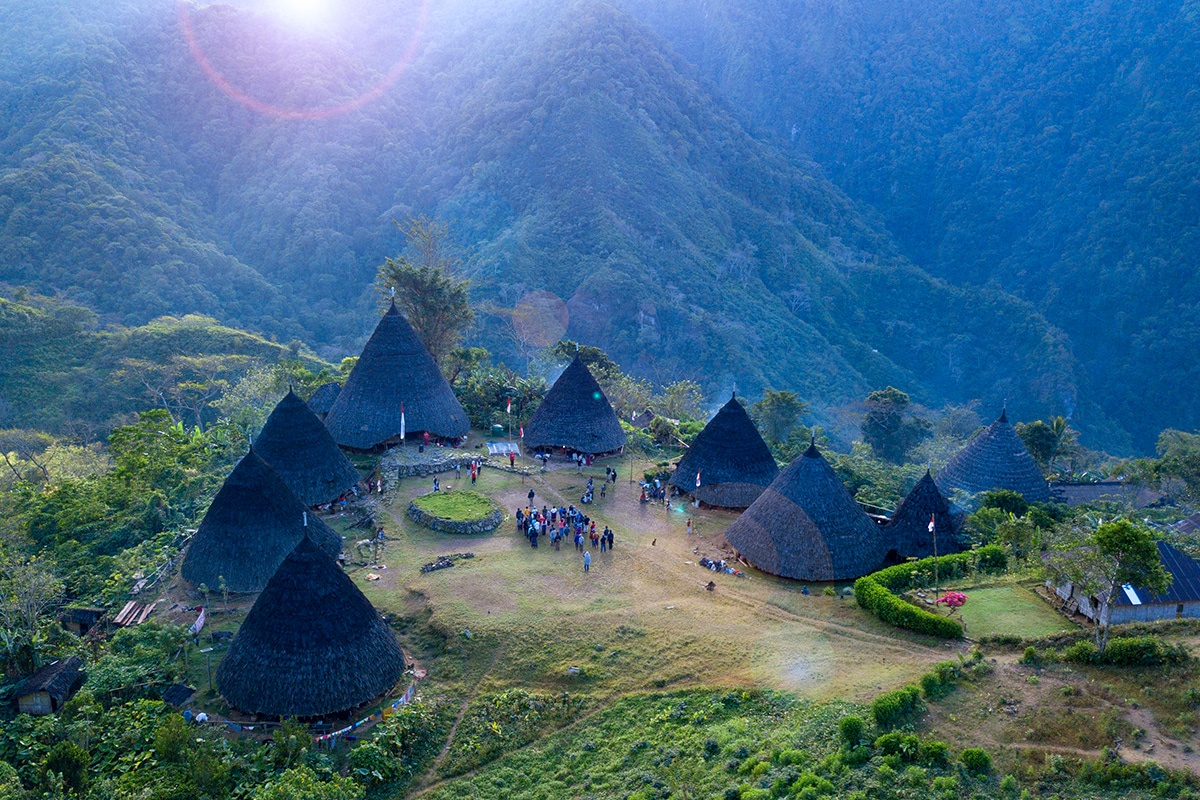 The Traditional Village of Wae Rebo on the Island of Flores