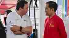 Komisaris Utama Pertamina, Basuki Tjahaja Purnama dan Presiden Jokowi saat meresmikan program B30, (23/12/2019).