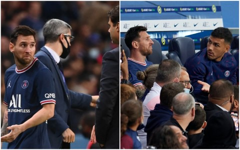 Lionel Messi left stunned after being substituted against Lyon with PSG  chasing a winner   Metro News