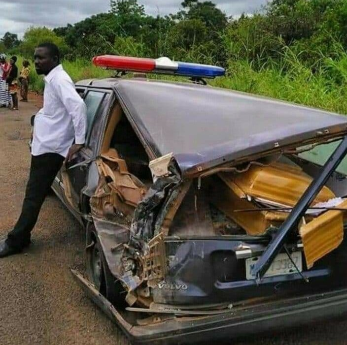 Bandits Destroys Coffin, Ambulance Carrying A Corpse For Burial At Benin (Photos)