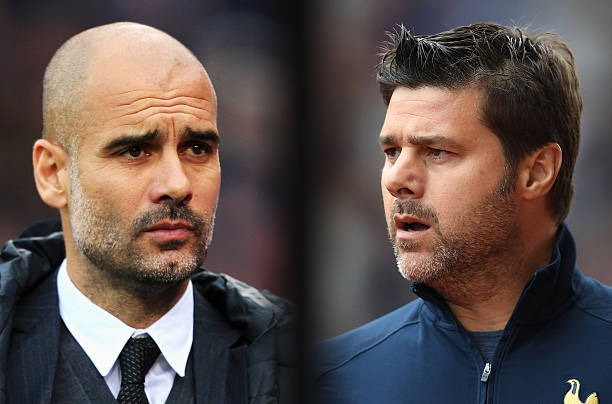 Mauricio Pochettino, Manager of Tottenham Hotspur looks on during the Premier League match between Stoke City and Tottenham Hotspur at Britannia...