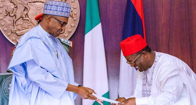 I Am Proud You Took A Bold Decision,' Buhari Welcomes Umahi To APC –  Channels Television