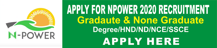 Npower Recruitment 2020 application online for, Banner, logo and website
