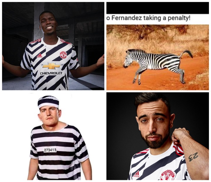 Nonsense Jersey Rival Fans Mocks Manchester United As The Red Devils Releases Zebra Like Kits Opera News